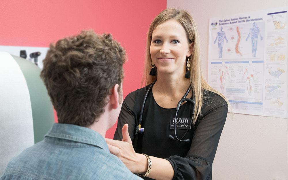 health care, lymph node check